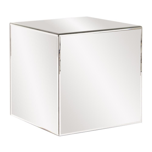 Mirrored Cube Table-48013 by Howard Elliott Home Goods