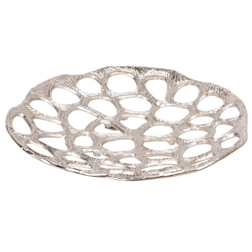 Nickel Plated Honeycomb Wall Artlarge-51006 by Howard Elliott Home Goods