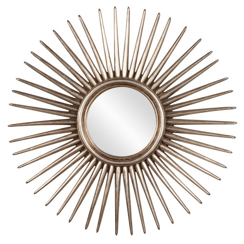 Cascade Silver Leaf Starburst Mirror-84004 by Howard Elliott Home Goods