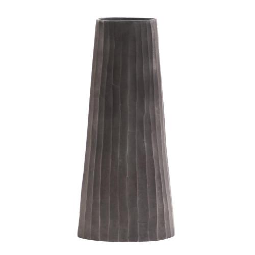 Graphite Chiseled Metal Vase-35041 by Howard Elliott Home Goods