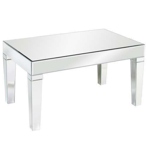 Leo Mirrored Coffee Table-11095 by Howard Elliott Home Goods