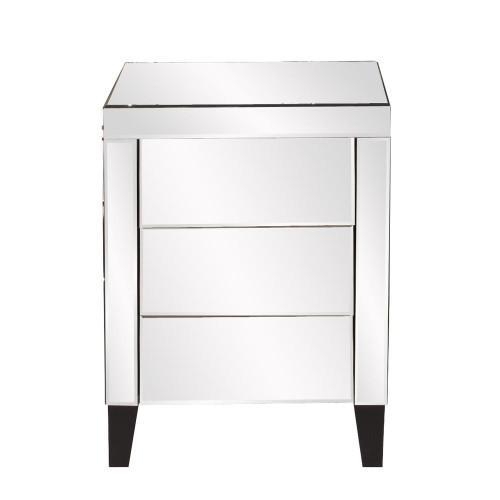 Mirrored 3 Drawer Small Dresser-99026 by Howard Elliott Home Goods