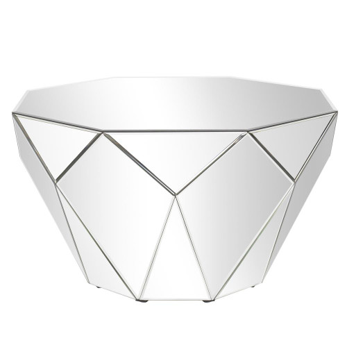 Faceted Mirrored Accent Table-29023 by Howard Elliott Home Goods