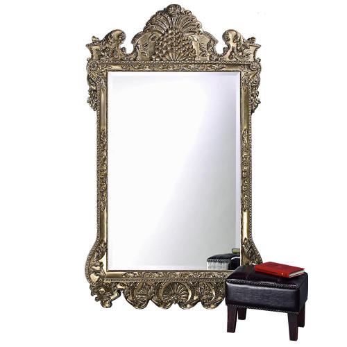Marquette Antique Silver Mirror-2083XL by Howard Elliott Home Goods