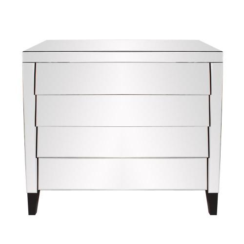 Mirrored 4 Drawer Dresser-99024 by Howard Elliott Home Goods