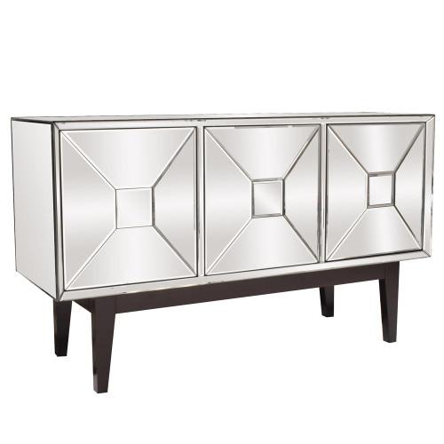 Pyramid Door Mirrored Cabinet-68086 by Howard Elliott Home Goods