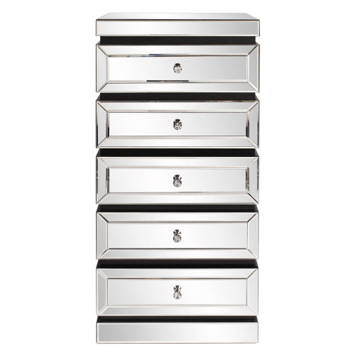 5-Tiered Mirrored Tower With Drawers-99063 by Howard Elliott Home Goods