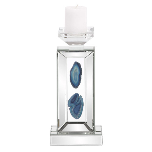 Turquoise Geode Candle Holder Small-99160 by Howard Elliott Home Goods