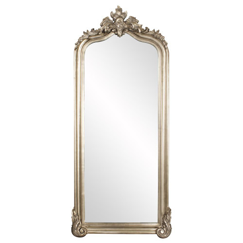 Tudor Silver Floor Mirror-53073 by Howard Elliott Home Goods