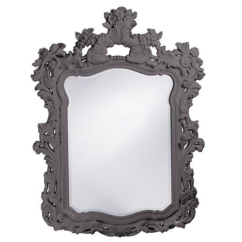 Turner Charcoal Gray Mirror-2147CH by Howard Elliott Home Goods