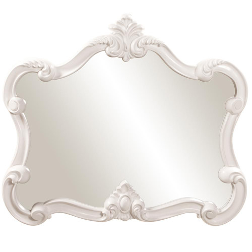 Veruca White Mirror-56032 by Howard Elliott Home Goods