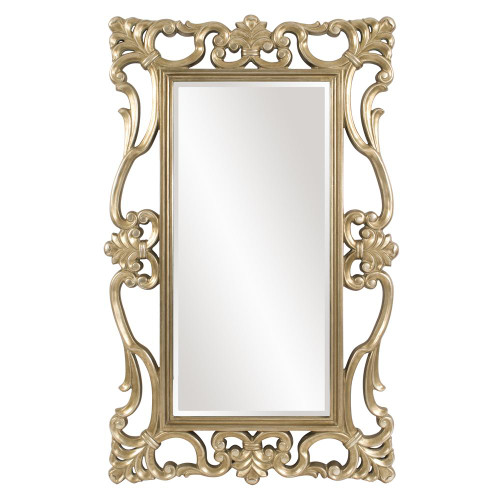Whittington Ornate Silver Mirror-43148 by Howard Elliott Home Goods