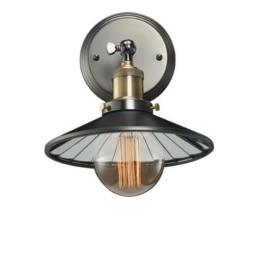 Wall Lights By Bulbrite PEWTER SCONCE W/MIRRORED SHADE 810021
