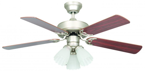Ceiling Fans By Concord Fans Concord By Luminance 42 Inch Heritage Home Ceiling Fan - Satin Nickel 42HEH5ESN