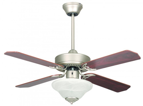 Ceiling Fans By Concord Fans Concord By Luminance 42 Inch Heritage Sq Ceiling Fan W/Bowl Ceiling Fan Light Kit - Satin Nickel 42HES4ESN