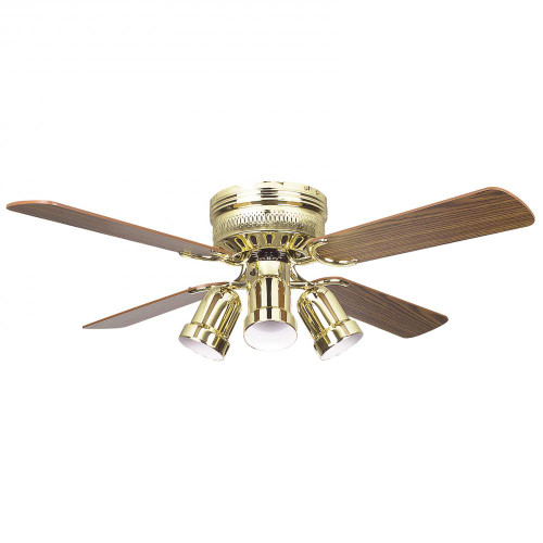 Ceiling Fans By Concord Fans Concord By Luminance 42 Inch Hugger Ceiling Fan W/4 Bullet Cb - Polished Brass 42HUG4BB-Y408