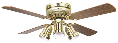 Ceiling Fans By Concord Fans Concord By Luminance 42 Inch Hugger W/Lt Cb Pc - Polished Brass 42HUG4BB-YG6