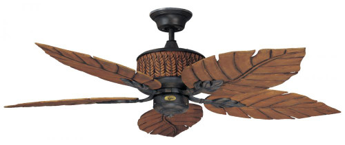 Ceiling Fans By Concord Fans Concord By Luminance 52 Inch Fernleaf Breeze Damp Location Ceiling Fan - Rustic Iron 52FEB5RI