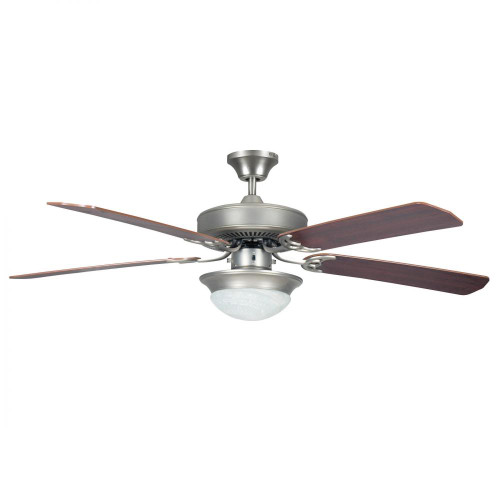 Ceiling Fans By Concord Fans Concord By Luminance 52 Inch Heritage Fusion Ceiling Fan W/2Light Mb Cfl Light Kit - Satin Nickel 52HEF5SN
