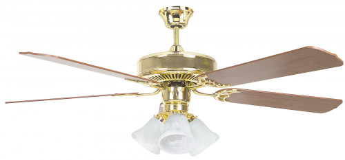 Ceiling Fans By Concord Fans Concord By Luminance 52 Inch Heritage Home Ceiling Fan W/Lt Kit - Oil Polished Brass 52HEH5EBB