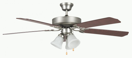 Ceiling Fans By Concord Fans Concord By Luminance 52 Inch Heritage Home Ceiling Fan W/Lt Kit - Satin Nickel 52HEH5ESN