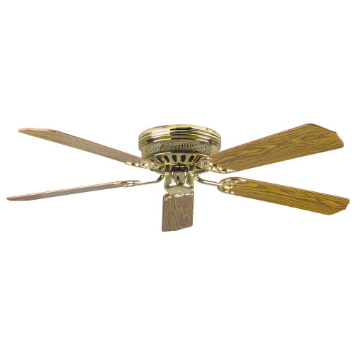 Ceiling Fans By Concord Fans Concord By Luminance 52 Inch Hugger Ceiling Fan W/Lt-Dk Blades - Polished Brass 52HUG5BB