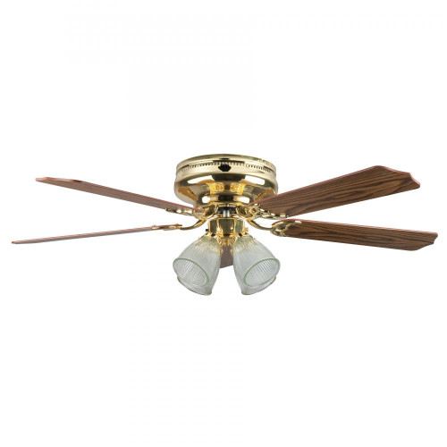 Ceiling Fans By Concord Fans Concord By Luminance 52 Inch Montego Bay Deluxe Ceiling Fan W/ 4Lt Kit - Polished Brass 52MBD5BB
