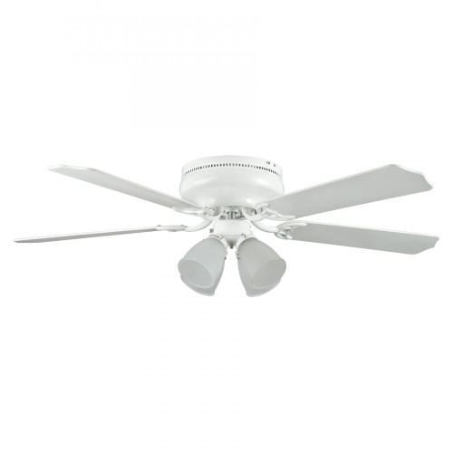 Ceiling Fans By Concord Fans Concord By Luminance 52 Inch Montego Bay Deluxe Ceiling Fan W/ 4Lt Kit - White 52MBD5WH