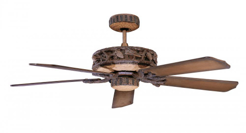 Ceiling Fans By Concord Fans Concord By Luminance 52 Inch Ponderosa Ceiling Fan For Wet Location - Old World Leather 52PD5OWL