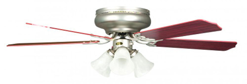 Ceiling Fans By Concord Fans Concord By Luminance 52 Inch Rosemount Hugger W/ 3 Lt Kit - Satin Nickel 52RO5SN