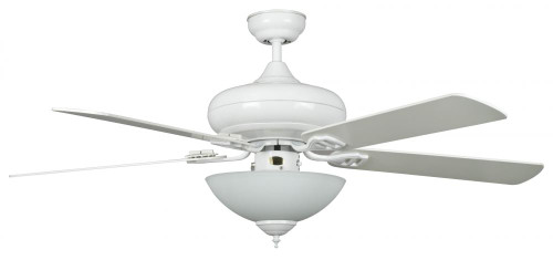 Ceiling Fans By Concord Fans Concord By Luminance 52 Inch Valore Quick Connect Ceiling Fan W/3 Light Kit - White 52VALQC5EWH