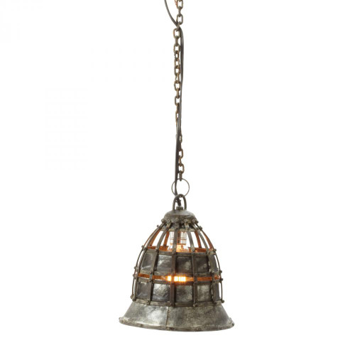 Chandeliers/Pendant Lights By Dimond Flared Fortress 1 Light Pendant In Distressed Si 135003