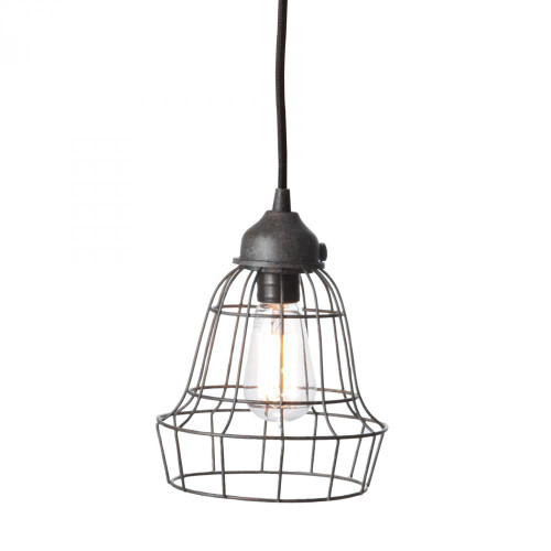 Chandeliers/Pendant Lights By Dimond Wire Barrel 1 Light Pendant In Brown 225032