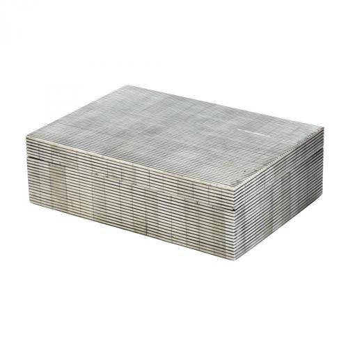 Home Decor By Dimond Pin Stripe Bone Box - Large 344057