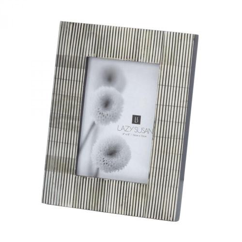 Home Decor By Dimond Pin Stripe Bone 4x6 Frame 344058