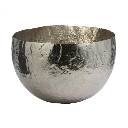 Home Decor By Dimond Nickel Plated Hammered Brass Dish - Large 346018