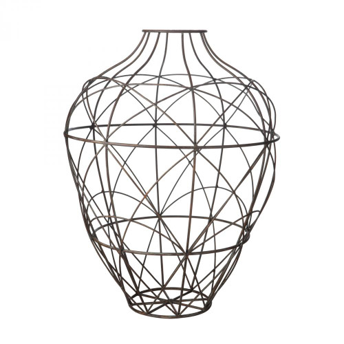 Home Decor By Dimond Wire Vessel In Russet - Small 594013