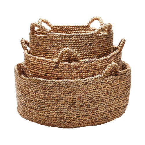 Home Decor By Dimond Natural Low Rise Baskets - Set of 3 784083