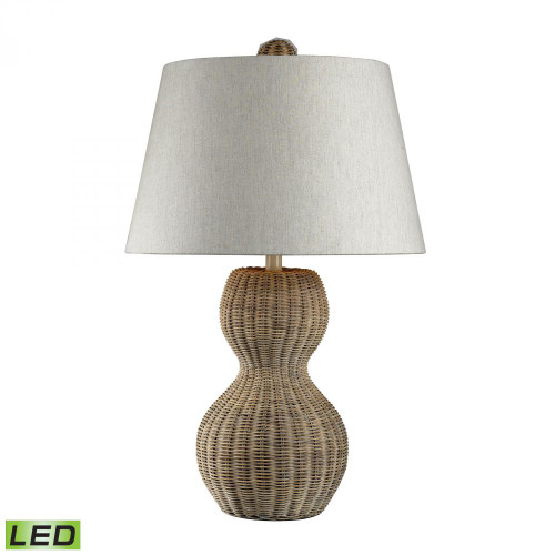 Lamps By Dimond Sycamore Hill Rattan LED Table Lamp in Light Natural Finish 111-1088-LED
