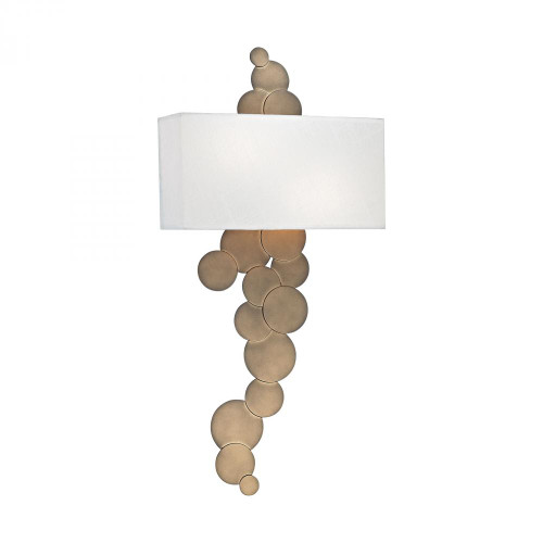 Wall Lights By Dimond Holepunch 2 Light Wall Sconce In Gold Leaf 1124-004