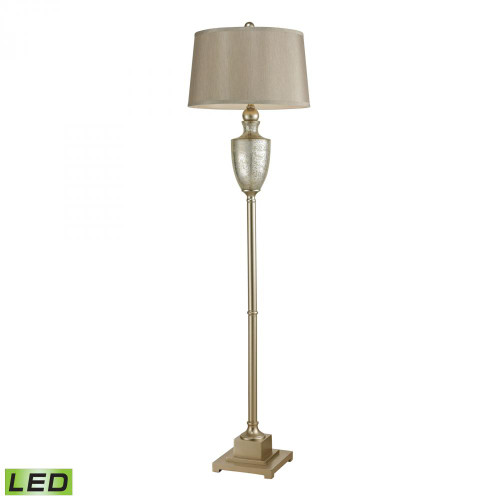 Lamps By Dimond Elmira Antique Mercury Glass LED Floor Lamp With Silver Accents 113-1139-LED