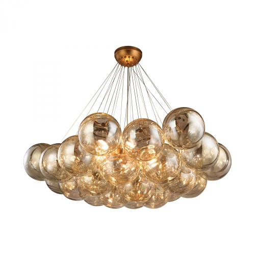 Chandeliers By Dimond Cielo 6 Light Chandelier In Antique Gold Leaf 1140-011