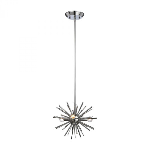 Chandeliers/Pendant Lights By Dimond Starburst 3 Light Pendant In Chrome 1140-026