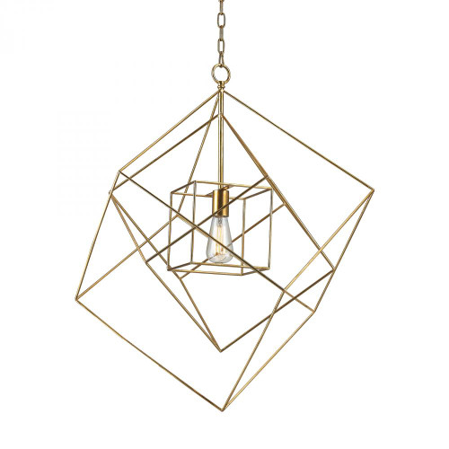 Chandeliers/Pendant Lights By Dimond Neil 1 Light Box Pendant In Gold Leaf - Large 1141-014