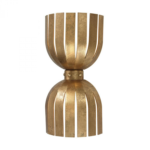Wall Lights By Dimond Olympia Double Wall Sconce In Gold Leaf 114-141
