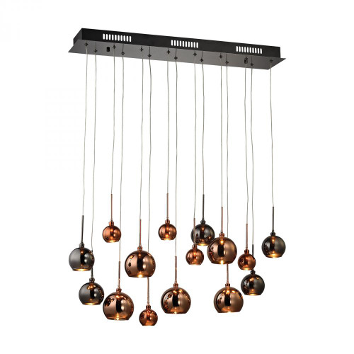 Chandeliers/Linear Suspension By Dimond Nexion 15 Light Chandelier In Black Chrome - Large 1142-011