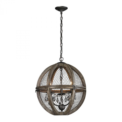 Chandeliers/Pendant Lights By Dimond Renaissance Invention Wood And Wire Chandelier - 18x21 140-007