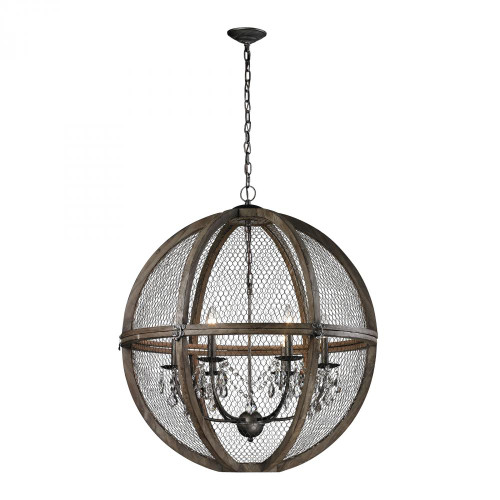 Chandeliers/Pendant Lights By Dimond Renaissance Invention Wood And Wire Chandelier - 30x32 140-008