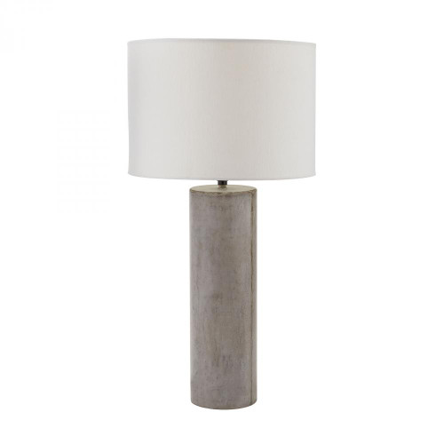 Lamps By Dimond Cubix Round Desk Lamp In Natural Concrete 157-013