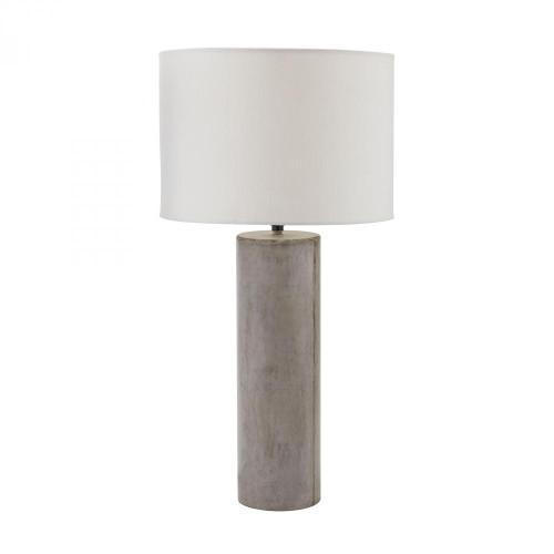 Lamps By Dimond Cubix Round Desk Lamp In Natural Concrete 157-013